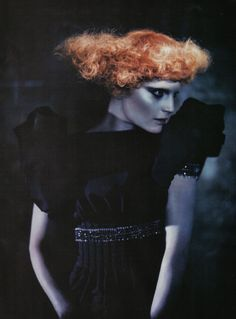 "VOGUE ITALIA SEPTEMBER 2008 From Supplement ""A Singular Beauty"" Model: Guinevere van Seenus Photo: Paolo Roversi"
