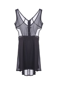 Cut-out Waist Sheer Upper Shift Dress - Wear a sexy bra and it's the perfect outfit!