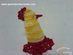 Protetor em Crochê para Bico Bule/Chaleira - Receita de Croche com o Passo a Passo no Link http://www.aprendendocroche.com/receitas-de-croche/video-aula.asp?resid=947&tree=23