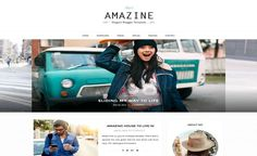Amazine, template Blogger gratuit pour blogueuses // Amazine, free and feminine Blogger template
