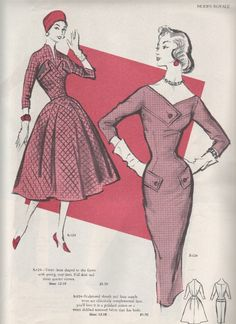 Good Morning and welcome to a brand new week! I recently acquired piles and piles of vintage Modes Royale Catalogues. So what better to d. Queer Fashion, Fashion History, Look Fashion, Fashion Design, 1950s Dress Patterns, Vintage Sewing Patterns, Clothing Patterns, Vestidos Vintage, Vintage Dresses