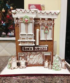 Bob's Burgers in cookie form.   13 Epic Gingerbread Houses Inspired By Your Favorite Movie And TV Shows