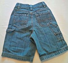 Arizona Boys Denim Jean Carpenter Shorts Size 7X Slim with Adjustable Waistbands