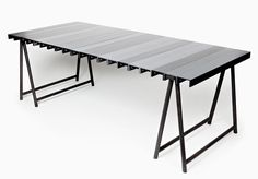 FAYE TOOGOOD - stratum table, anodized aluminium