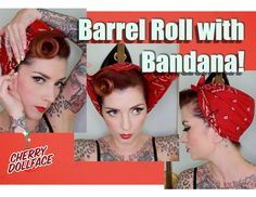 Hair styles bandana rockabilly hair tutorials 45 New ideas Easy 50s Hairstyles, Vintage Hairstyles Tutorial, Bandana Hairstyles, Wedding Hairstyles, Hairstyle Tutorials, Bandana Updo, Bandana Outfit, Bandana Styles, Wedding Updo
