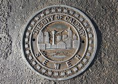 Calgary, Alberta manhole cover