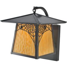 """12 Inch W Stillwater Spider Web Curved Arm Wall Sconce. 12 Inch W Stillwater Spider Web Curved Arm Wall Sconce Theme:  MISSION LODGE ARTS & CRAFTS INSECTS Product Family:  Stillwater Spider Web Product Type:  WALL SCONCES Product Application:  ONE LIGHT Color:  BEIGE CRAFTSMAN Bulb Type: MED Bulb Quantity:  1 Bulb Wattage:  100 Product Dimensions:  13""""H x 12""""W x 15.5""""DPackage Dimensions:  NABoxed Weight:   lbsDim Weight:  48 lbsOversized Shipping Reference:  NAIMPORTANT NOTE:  Every Meyda…"""