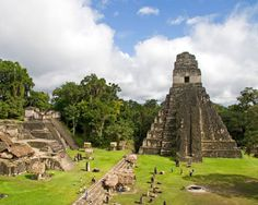 Tikal (Guatemala) is awesome! I got to stay in a eco jungle lodge while visiting. The howler monkeys at night are an experience!