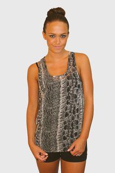 #snakeskin #hardtboutique #fashion #tank #style