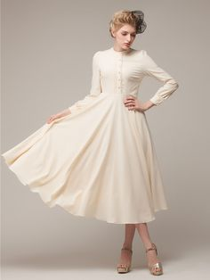 """""""((Beige Maxi High Waist Dress 