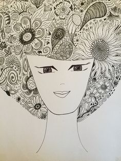 Short hair zendoodle, zentangle