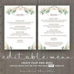 88 best wedding menu cards images in 2018 wedding menu cards