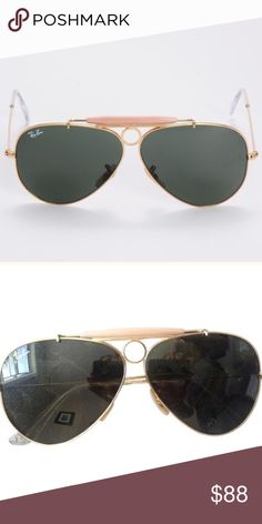 Ray Ban Limited Edition Shooter Gold Aviator Ray Ban Limited Edition Shooter Gold Aviator. Gently used. Ray-Ban Accessories Glasses