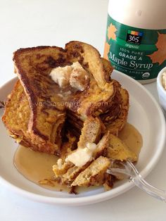 pumpkin french toast with salted maple butter