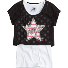 Polka Dot Crop Over Long Tee fashion graphics ($31) ❤ liked on Polyvore featuring kids and kids clothes