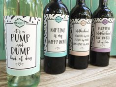 Mom wine labels new mom gift mom truths mom life by PaprikaPaperie