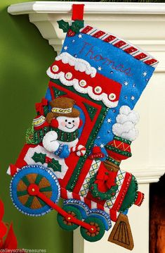 It's true that MerryStockings carries the full line of Bucilla felt Christmas stocking kits. We also have exclusive retired & discontinued Bucilla kits that you'll find no where else. With the largest inventory of kits anywhere, we know you'll find a kit Felt Stocking Kit, Christmas Stocking Kits, Felt Christmas Stockings, Cute Stockings, Christmas Crafts, Christmas Ornaments, Xmas, Christmas Train, Felt Applique