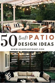 Let the fresh air flow whether you have a tiny, narrow patio or a large garden with our stylish outdoor patio design ideas. Check them out! small backyard patio design ideas   patio design ideas on a budget   out door spaces   modern patiod esign   patio design layout #pergolas #SharpAspirant