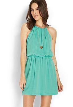 Socialite Halter Dress | LOVE21 - 2000071859