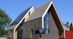 Modern woonhuis te Loon op Zand #leisteen #dak @LeiImportBV