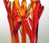 Candelero Corales rojos