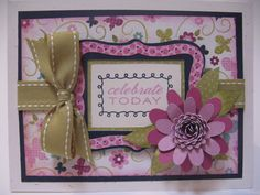 card made using the Flower Shoppe cartridge