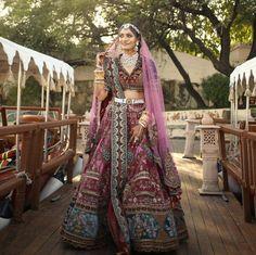 Indian Bridal Lehenga, Indian Bridal Outfits, Indian Bridal Wear, Indian Designer Outfits, Indian Gowns Dresses, Bridal Dresses, Lehenga Top, Prom Dresses Long With Sleeves, Dress Indian Style