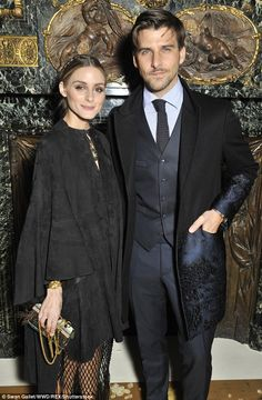 Trendy pair:Olivia Palermo yet again proved herself to be the ultimate fashionista as she attended the star-studded Valentino fashion show at Paris Haute Couture Fashion Week on January 27, 2016