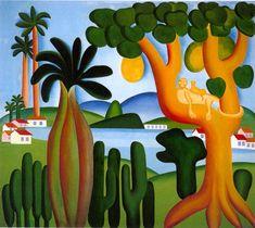 Postcard. Óleo sobre tela. 1928.Tarsila do Amaral (01/09/1886-17/01/1973).