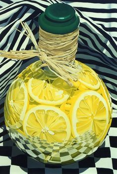 "''Jug of Lemons'', 60"" x 44"", by Suzy Smith Oil Painting"