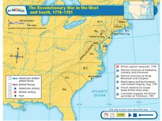 Maps in Motion: Revolutionary War in the West and South 1778-1781. Narration included.