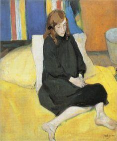 Jules Pascin – Schoolgirl, 1908, Oil on canvas, 55x46cm   Hokkaido Prefectural Museum of Modern Art