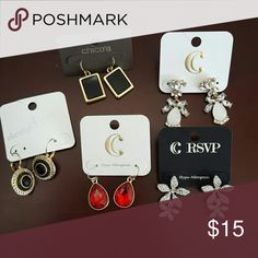 Earring bundle Fashion earrings. Different styles and colors. Never worn! Free bracelet with purchase! Jewelry Earrings