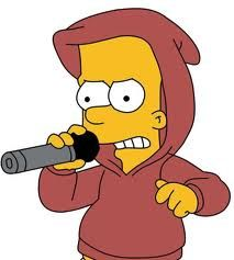 Rap master Bart bustin out some rymes