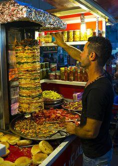 Kebab stall in Suleymanyah, Kurdistan, Iraq by Eric Lafforgue