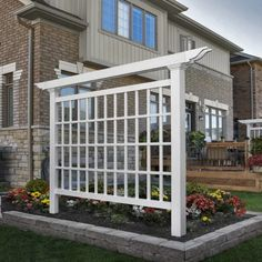 New England Arbors Camden Vinyl Lattice Panel Trellis & Reviews | Wayfair...