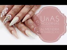 ♡Uñas Punta Almendra♡ Modernas/Glamurosas - YouTube
