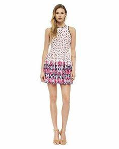 Deco Floral Ponte Dress