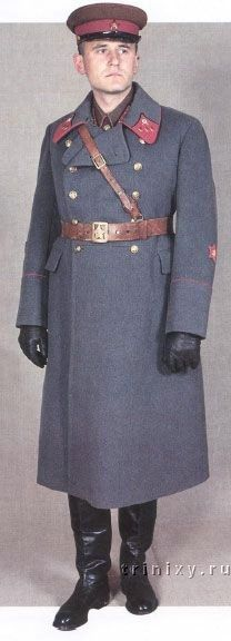1935-1943 Soviet Red Army officers and commissars' winter service uniform.