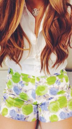 Button ups, curly hair, and patterned shorts