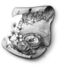 compass tattoo tumblr - Pesquisa Google