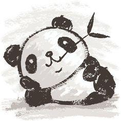Panda by Toru Sanogawa, via Behance