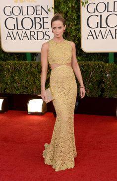Emily Blunt in Michael Kors, 2013 Golden Globe Awards