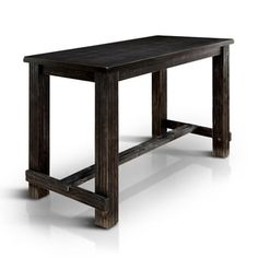 Furniture of America Telara Contemporary Antique Black Bar Height Table - Ships To Canada - Overstock.ca - 19327041 - Mobile