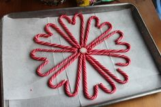 Melted Peppermint Plate | Share Candy Cane hearts