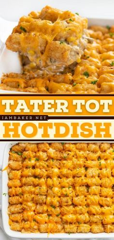 Thinking of an easy dinner idea? Try this Tater Tot Hotdish recipe! This budget-friendly and easy main dish are full of meat, veggies, soup, cheese, and tater tots. It's a satisfying meal! Try it for dinner tonight! Easy Main Dish Recipes, Easy Dinner Recipes, Tater Tot Hotdish, Tater Tots, Food Dishes, Main Dishes, Hotdish Recipes, Food Staples, What To Cook