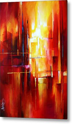 'city Of Fire' Metal Print by Michael Lang.  All metal prints are professionally printed, packaged, and shipped within 3 - 4 business days and delivered ready-to-hang on your wall. Choose from multiple sizes and mounting options.