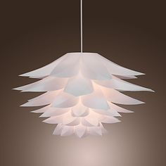 60W Floral Pendant Light in Petal Featured Shade – USD $ 89.99