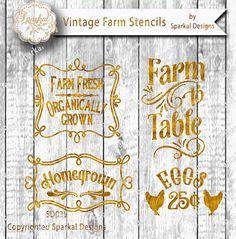Farm to Table Market Sign Cut File, Bundle Garden Digital Cutting design Vinyl Stencil, Wood Sign Stencil SVG Cut File Silhouette Studio