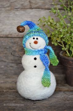 Bear Creek Snowman Needle Felted by BearCreekDesign